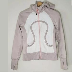 Lululemon Scuba Hoodie Dune And White Size 4